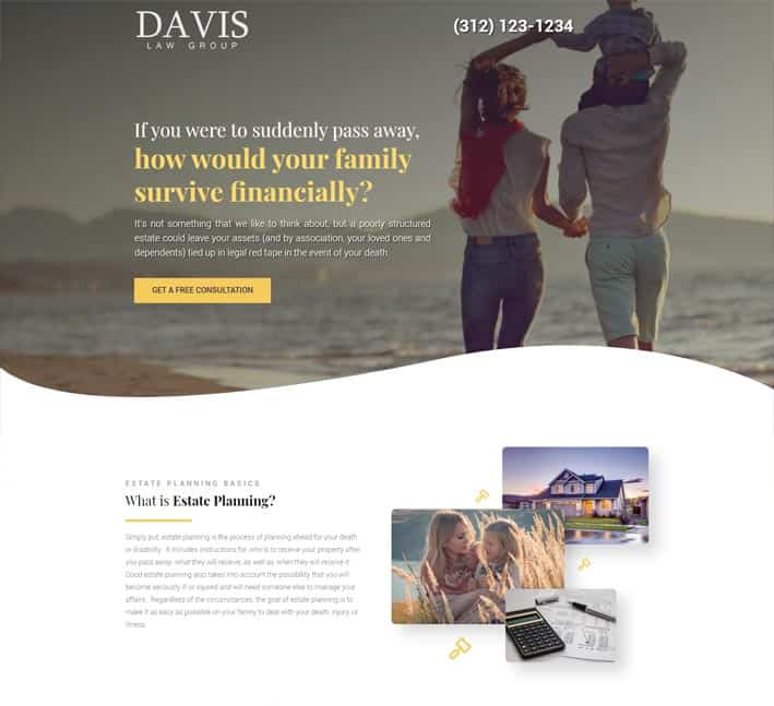 landing pages for estate planning lawyers